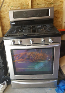 Kitchen aid gas stove with convection