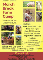 March Break Farm Fun Camp