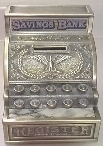 Toy Cash Register Saving Bank with an Eagle