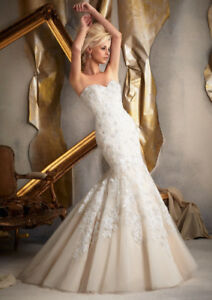 LIKE NEW mori lee mermaid wedding dress size 8