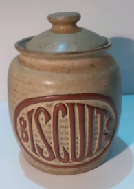 Vintage Pottery Biscuit Jar
