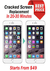 ✅★BROKEN LCD REPAIR IPHONE 6 49$ ON THE SPOT✅