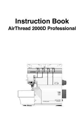 Janome 200D Air Thread Serger Instruction Manual