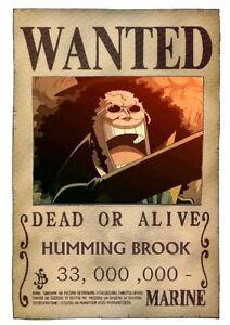 Poster One Piece Rufy Taglia Wanted Brook Big 70x50 Cm   eBay