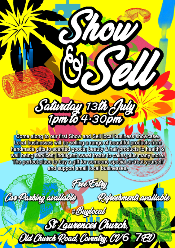 Show and sell Craft Fair Saturday 13th July   in Coventry