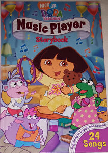 Dora Music Player Book & Toy with 4 Plastic Music CD's