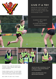 Free Youth Girls Rugby Taster Event