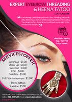 $5* Jash Eyebrows Threading and Henna Tattoo*Lacewood Drive