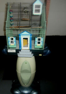 1.BIRD HOUSE style CAGE WITH STAND