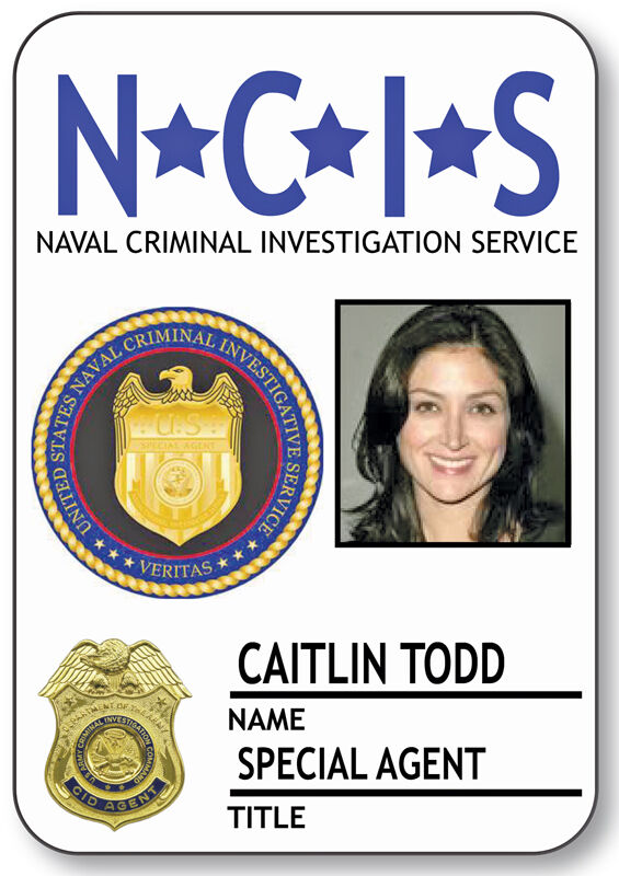 NAME BADGE HALLOWEEN COSTUME CAITLIN TODD SPECIAL AGENT NCIS MAGNETIC BACK