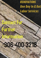 Renovations - One Day In & Out Labor Services
