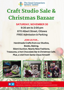 Craft Studio Sale and Christmas Bazaar