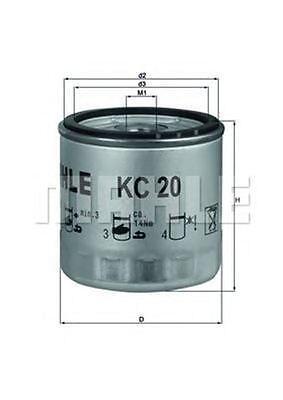 MAHLE / KNECHT Kraftstofffilter KC 20 ( KC20 )