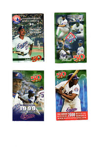 Montreal Expos Baseball schedules 1995-2000  (4)