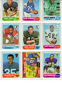 1968 Topps Football Cards - 3 Rookies (Good) West Island Greater Montréal image 1