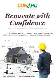 Save on your renovations with CONARQ. Free estimates today! Stratford Kitchener Area image 1