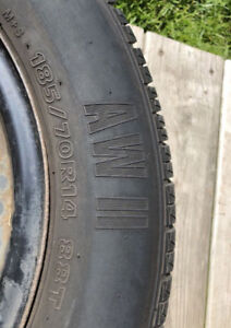 185-70R-14 New Tires with Rims!!! 4 BOLT Pattern!!!