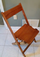 Six Vintage Wooden Folding Chairs