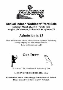 "ANNUAL INDOOR ""OUTDOORS"" YARD SALE"