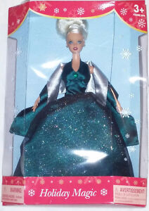 Qty 4 x Barbie Holiday Magic Dolls Red, Blue, Green Dresses NEW London Ontario image 5