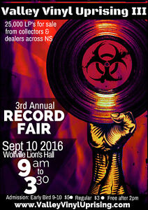 3rd Annual Record Fair in Wolfville,NS Sept 10th - LP's Records