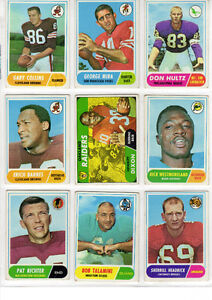 1968 TOPPS Football including 3 Rookies Good West Island Greater Montréal image 1
