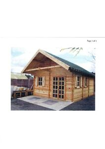 """Great Cabin or large """"TINY"""" house log style panel KIT"""