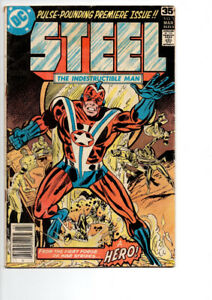 Steel, The Indestructible Man #1 & #2 - $10.00  FOR  BOTH !!!