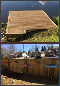 Need your fence, deck, railing or siding done or repaired? Strathcona County Edmonton Area image 1