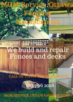 We build and repair Fences ,Call us today! For a free quote