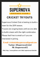 Cricket Team - Tryouts for 2019 Season