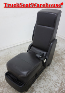Ford Truck F150 BLACK LEATHER Center Fold Down Seat Console