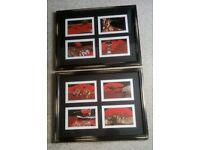 TWO FRAMED SET OF 8 ABORIGINE PRINTS BY DANNY BURNS