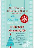 All I Want For Christmas Market & Craft Fair Miramichi