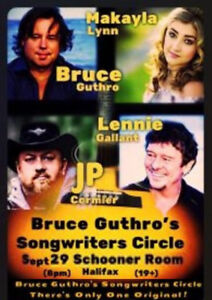 B. GUTHRO and FRIENDS - SONGWRITERS CIRCLE - FRONT ROW FLOOR !