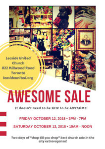 Awesome Sale Leaside United Church Saturday Oct 13/18