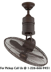 """NEW Craftmade BW321AG3 Bellows III-21"""" Rotating Cage Ceiling Fan"""