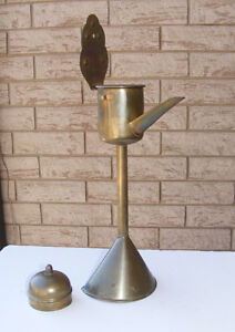 REDUCED--ANTIQUE DUTCH BRASS WHALE OIL LAMP