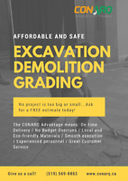Excavation, Demolition, Grading : affordable and safe!