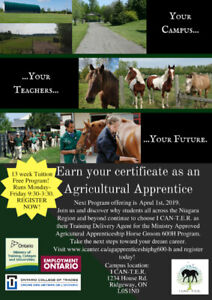 Earn your certification as an Agricultural Apprentice!