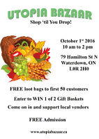 Utopia Bazaar - Come Join Us Oct. 1st, 2016