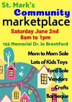 Come Out to Our Community Marketplace on Saturday June 2nd