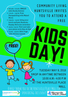 Kids Day at the Huntsville Place Mall- Tuesday May 8, 2018