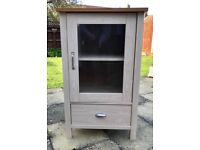 Beech effect cabinet with drawer
