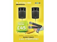 Hire PA System/ Sound System from £45