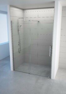 "Begonia Frameless SLIDING DOOR BOTTOM ROLLERS 60""x78""x8mm"