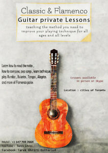 Guitar Lessons ( Classic,Flamenco &Acoustic 25$ for 30 min )