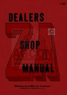Minneapolis Moline Za Zae Zan Zas Zau Shop Serv. Manual