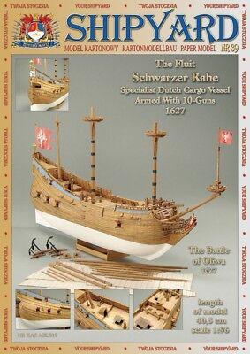 Shipyard 39: Fleute Schwarzer Rabe (1627)  1:96 mit Lasercutteilen