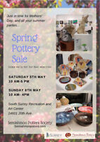 Semiahmoo Potters 2018 Spring Pottery Sale